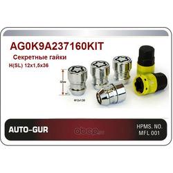 Секретные гайки конус 12х1,5х36 (Auto-GUR) AG0K9A237160KIT