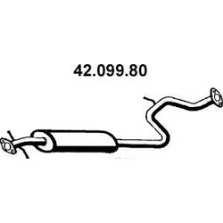 Средний глушитель выхлопных газов (Eberspacher) 4209980