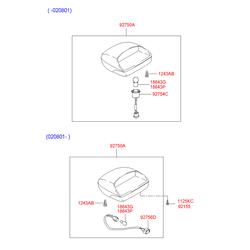 Стоп сигнал (Hyundai-KIA) 9275025700LT