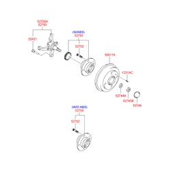 Тормозной барабан (Hyundai-KIA) 5841125201