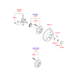 Тормозной барабан (Hyundai-KIA) 5841125010