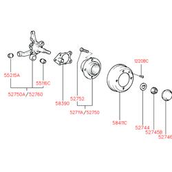 Тормозной барабан (Hyundai-KIA) 5841122100