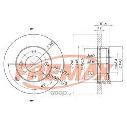 Тормозной диск (FREMAX) BD1008