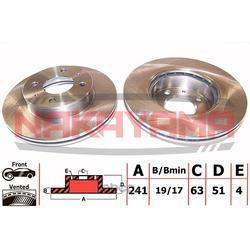 Тормозной диск передний (NAKAYAMA) Q4401