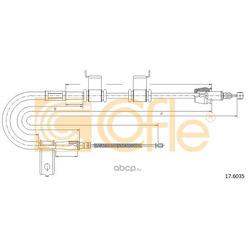 Трос стояночного тормоза левый задний (Cofle) 176035
