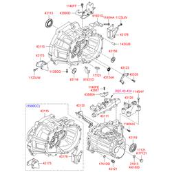Трубка направляющая масляного щупа (Hyundai-KIA) 4313523001