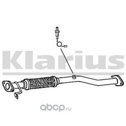 Труба выхлопного газа (KLARIUS) 142716