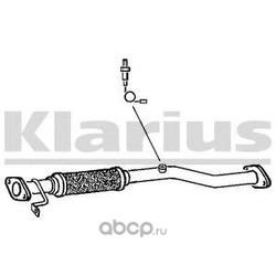 Труба выхлопного газа (KLARIUS) HY89W
