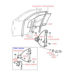 Уплотнитель стекла (Hyundai-KIA) 8253022202