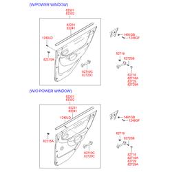 Уплотнитель стекла двери (Hyundai-KIA) 8324125000