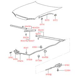 Фиксатор стойки капота (Hyundai-KIA) 8117322000