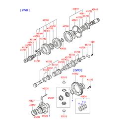 Шариковый подшипник d40мм (Hyundai-KIA) 4582934140