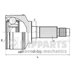 Шарнирный комплект (Nipparts) N2820526