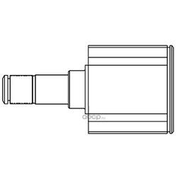 Шарнирный комплект, приводной вал (GSP) 624009