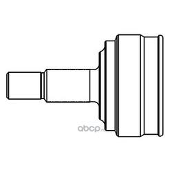 Шарнирный комплект, приводной вал (GSP) 824065