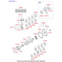 Шкив коленвала (Hyundai-KIA) 2312422610