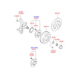 Шпилька ступицы задней (Hyundai-KIA) 5271222000