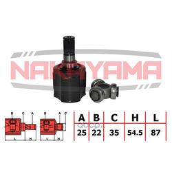 ШРУС внутренний, комплект (NAKAYAMA) NJ7030NY