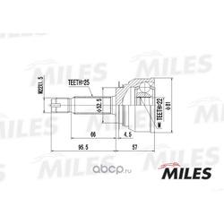 ШРУС наружный (Miles) GA20160
