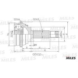 ШРУС наружный (ABS) (Miles) GA20159