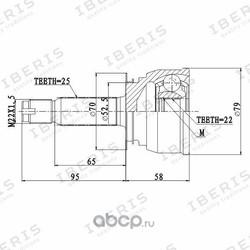 ШРУС наружный без АБС (IBERIS) IB6080