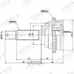 ШРУС наружный с АБС (IBERIS) IB6039