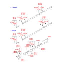 Молдинг крыла (Hyundai-KIA) 8771225000