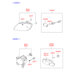 Противотуманная фара (Hyundai-KIA) 9220225300