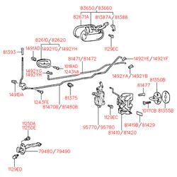 Эмблема декоративная (Hyundai-KIA) 8141936000
