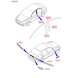 Эмблема декоративная (Hyundai-KIA) 863411E200