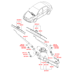 Деталь (Hyundai-KIA) 981001G000