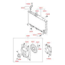 Радиатор (Hyundai-KIA) 2531025Q11