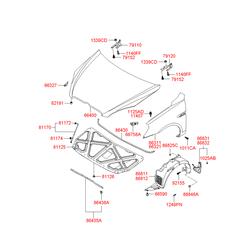 Подкрылок (Hyundai-KIA) 868111E000