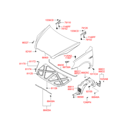 Подкрылок (Hyundai-KIA) 868121E000