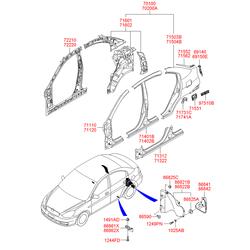 Подкрылок (Hyundai-KIA) 868411E000