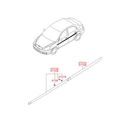 Молдинг двери (Hyundai-KIA) 877221E000