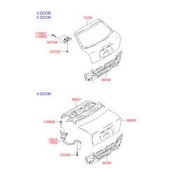 Панель кузова (Hyundai-KIA) 6910025310