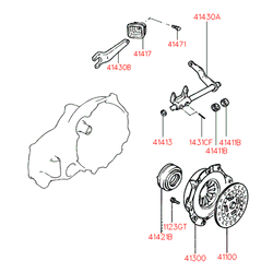 Вилка сцепления (Hyundai-KIA) 4143022652
