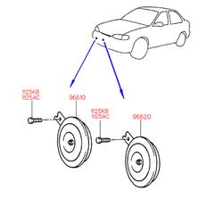Звуковой сигнал (Hyundai-KIA) 9661029100
