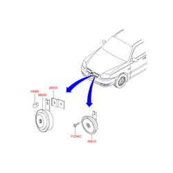 Звуковой сигнал (Hyundai-KIA) 9662025100