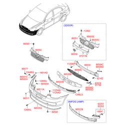 Кожух радиатора (Hyundai-KIA) 863661E000