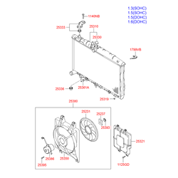 Кожух радиатора (Hyundai-KIA) 2532125000