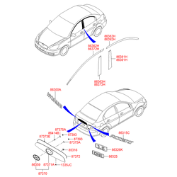 Эмблема пластик (Hyundai-KIA) 863101E000