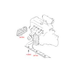 Защита двигателя (Hyundai-KIA) 291201G000
