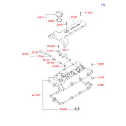 Клапанная крышка (Hyundai-KIA) 2241026611