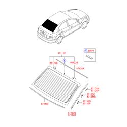 Молдинг кузовной (Hyundai-KIA) 871311E000