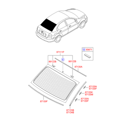 Окантовка стекла (Hyundai-KIA) 871341E000