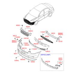 Бампера усилитель (Hyundai-KIA) 865301E000