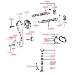 Направляющая цепи (Hyundai-KIA) 2443226000