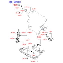 Подушка двигателя (Hyundai-KIA) 218301G200